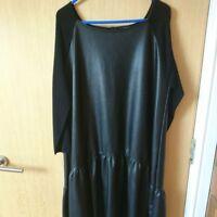 BNWT ZARA BLACK Leather DRESS