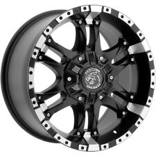 """4-Panther OffRoad 810 17x9 6x135/6x5.5"""" +0mm Black/Machined Wheels Rims 17"""" Inch"""