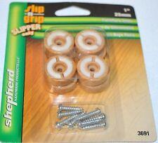 """Shepherd Slip n Grip Furniture Glides - 1""""- 4 pack - #3691- /Wood grain look- 2"""
