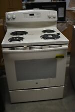 "Ge Jb258Dmcc 30""Bisque Freestanding Electric Range Nob #42923 Cln"