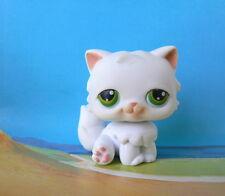 LITTLEST PETSHOP # 15 WHITE PERSIAN CAT GREEN EYES - LPS CHAT PERSAN