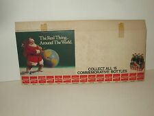 VINTAGE 1990 COCA COLA COKE SODA SANTA CLAUS THE REAL THING STORE DISPLAY SIGN