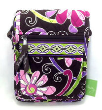 Vera Bradley Purple Punch Mini Hipster Purse Handbag New Cross Body Pink Flower