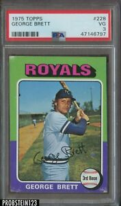 1975 Topps #228 George Brett Kansas City Royals RC Rookie HOF PSA 3 VG