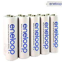 10 x Panasonic Eneloop AA batteries 1900mAh Rechargeable Ni-MH BK-3MCCE LR06