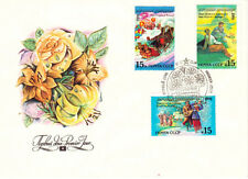 1991 Soviet FDC cover with THREE STAMPS National holidays in three republics