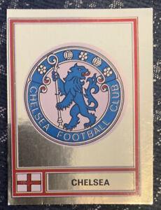 Unused 1978 Gold Foil Chelsea FC Badge Football 78 Panini 1970s Sticker 73