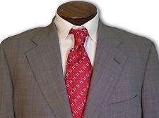$1985 Samuelsohn Super100 100% Wool Black Grey Birdseye Suit 42 42L C110