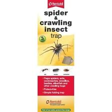 Rentokil Spider, Bugs & Crawling Insect Traps - 3 Pack Glue Boards - Cockroaches