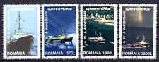 Bateaux Roumanie (56) série complète de 4 timbres oblitérés