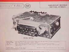 1958 CHEVROLET CORVETTE BELAIR CONVERTIBLE DELRAY IMPALA AM RADIO SERVICE MANUAL
