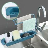 Telescopic Sink Rack Holder Expandable Storage Drain Basket Kitchen Home UK