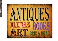 Antiques and Flea Market Shop Vintage Reproduction Sign Antique Shop Sign