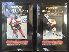 1993/94 Pinnacle Series 1 Hockey 2 Box Lot Sealed Canadien Boxes Mask Card Rare