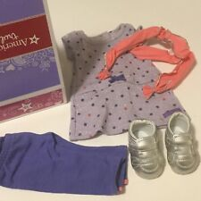New American Girl Doll Recess Ready Outfit ~ Scarf Pants Shoes Dress