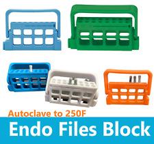 Dental 8 Holes Bur Endo Files Block Holder Stand Autoclave Disinfection Box Case