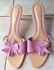Unisa Ladies Heeled Pink Sandals Size 41 / 8. Great Condition.