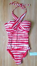 Seafolly Osaka Stripe D Cup Wrap Front Maillot Sienna - AU 10/us 6 (d11)