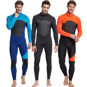 Sbart Mens 3mm Neoprene Wetsuit Full Length 3mm Steamer Wet Suit Long