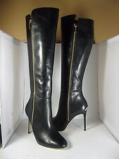 sz 6 new MICHAEL KORS $295 CLARA Tall Knee High Black Leather Boots