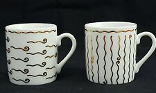POTTERY BARN NILE Demitasse Cup White and Gold Espresso Mug, made in Japan