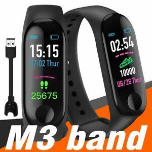 M3X Smart Band Watch Sport Wristband Fitness Tracker Heart Rate Blood Pressure