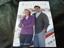 Sirdar 8098 Knitting Pattern Womens Mens Cardigans in Hayfield Bonus Aran