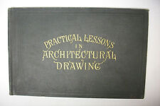 1894 ARCHITECTURAL DRAWING *Frame, Brick and Stone Buildings - Illustrated