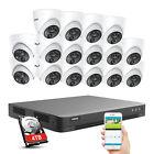 ANNKE 4K 8MP 16CH H.265+ DVR HD 5MP Video PIR Motion Security Camera System IP67