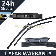 "Para Renault Megane Cc MK3 2009-Direct Fit Delantero Aero Wiper Blades par 24"" 16"""