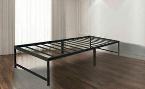 AmazonBasics AMZ-14BIBF-T 14 inch Metal Platform Bed Frame, Size Twin - Black
