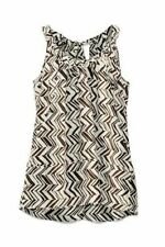 Marni for H&M Silk Print Sleeveless top w/ruched tie neck Size US 12 NWOT
