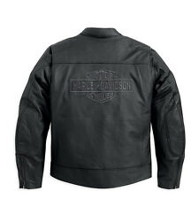 Harley-Davidson® Men's Tradition Leather Jacket, 98036-12VT Size Large TALL