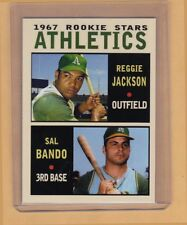 Reggie Jackson & Sal Bando '67 Kansas City Athletics rookies Pastime #9 NM cond