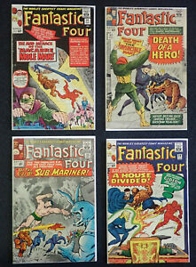 Fantastic Four #31 #32 #33 #34 Up to VG/FN LOT OF 4, 1964 Mole & Invincible Man