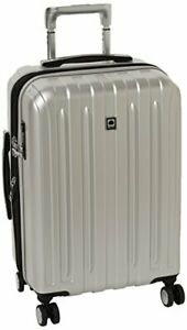 DELSEY Paris Titanium Hardside Expandable Luggage with Spinner Wheels Silver ...