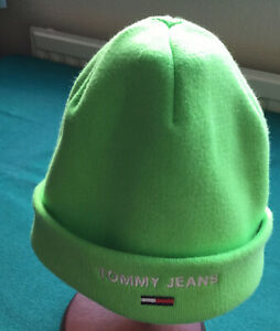 Tommy Hilfiger Ladies'/ Child Cotton And Acrylic Beanie Hat Lime Green OS