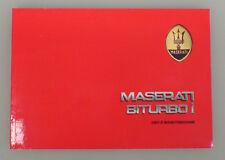 Libretto uso e manutenzione Maserati Biturbo 2000 i