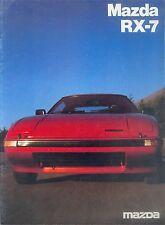 MAZDA rx-7 PROSPEKT 6/81 brochure 1981 AUTO AUTOMOBILI AUTO prospetto opuscolo Giappone