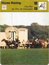 1978 Sportscaster Card Horse Racing The Prix de 1' Arc de Triomphe  # 02-01.