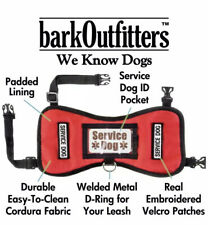 """barkOufitters Service Dog Vest Harness ID Card Patches Red XS 21""""- 26"""" Girth NEW"""
