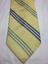 "TOMMY BAHAMA OFF ISLAND MENS TIE YELLOW WITH BLUE AND GREEN STRIPES 4"" X 59.5"""