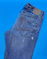 Abercrombie Boys Size 14 W28 L28 Zip Horton Classic Straight Jeans Distressed