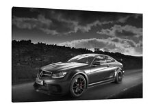 Mercedes C63 AMG Black Series - 30x20 Inch Canvas Wall Art - Framed Picture