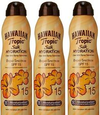 3 X Hawaiian Tropic Silk Hydration Clear Mist Spray Sunscreen 15,  6 oz 177 ml