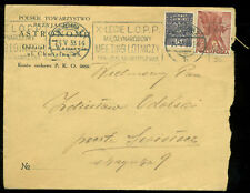 POLAND COMMERICAL COVER WARSZAWA LOPP AVIATION CACHET 1933 to Świsłocz BELARUS