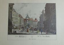 Carl Schütz: Der Hohemarkt Wien - Kunstblatt Reproduktion art print