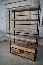 Iron and reclaimed wood bookcase / display unit with free delivery