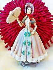 """BEATRICE""   ROYAL  WORCESTER  EXTRAORDINARY  FIGURINE  WITH  PARASOL  BEAUTIFUL"