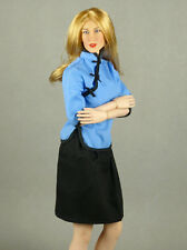 1/6 Phicen, SD Chinese Female Traditional Blue Top Cheongsam & Black Skirt Set
